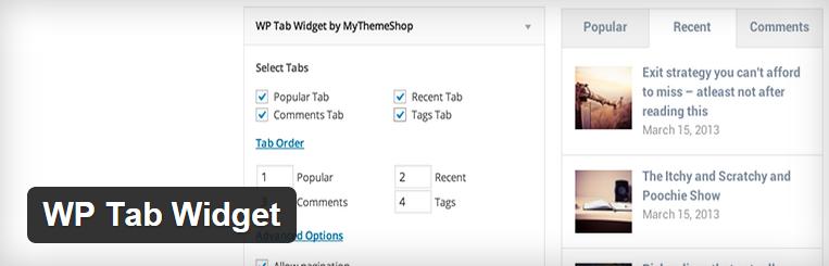 WP tab widget voor wordpress