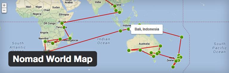 Interactieve kaart toevoegen aan wordpres met de Nomad World map plugin
