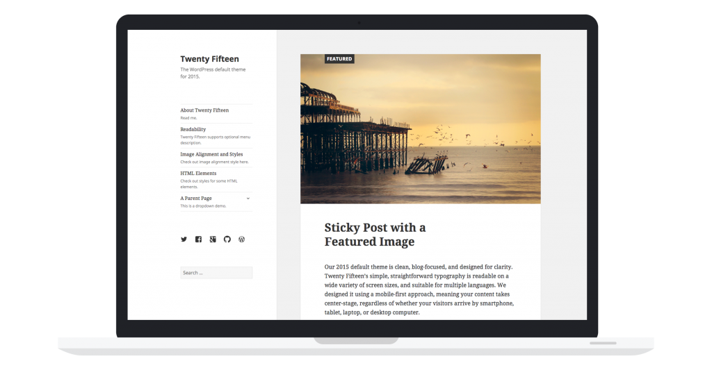 WordPress 4.1 Dinah Twenty Fifteen
