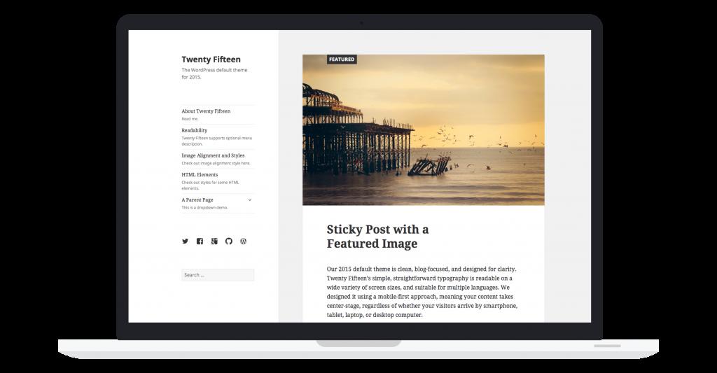 WordPress 4.1 Dinah Twenty Fifteen