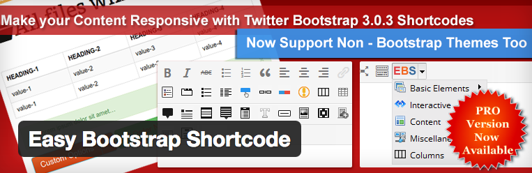 Easy Bootstrap Shortcode