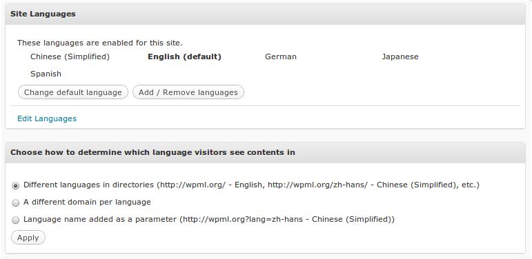 WPML meertaligheid voor wordpress instellingen