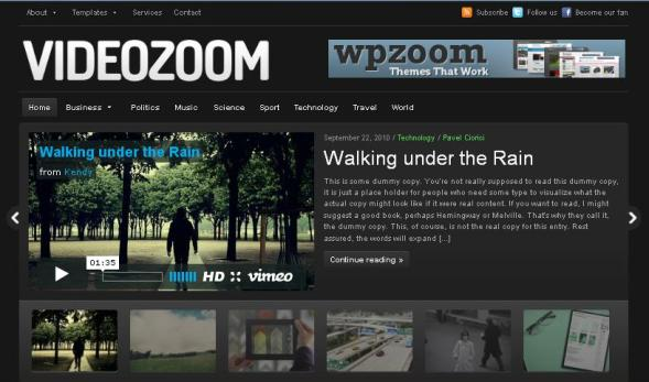 Videozoom wordpress plugin voor vlogger websites