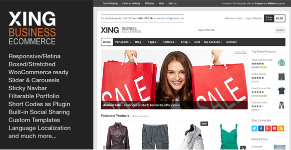 Xing - Business : ecommerce WordPress Theme