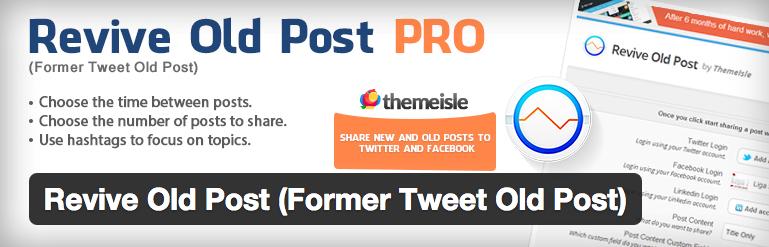 Auto retweet oude WordPress berichten met deze WordPress plugin