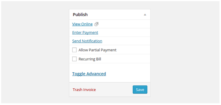 Facturen sturen via een WordPress website stap 13