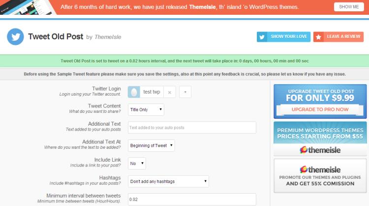 WordPress berichten automatisch tweeten in twitter