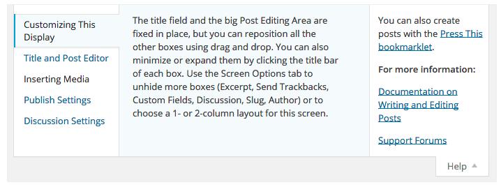 Zo voeg je help tekst toe aan je WordPress backend voor klanten!