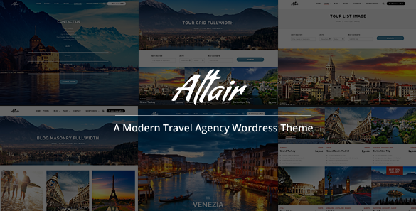 Altair Responsive Travel/Tour Agency Theme