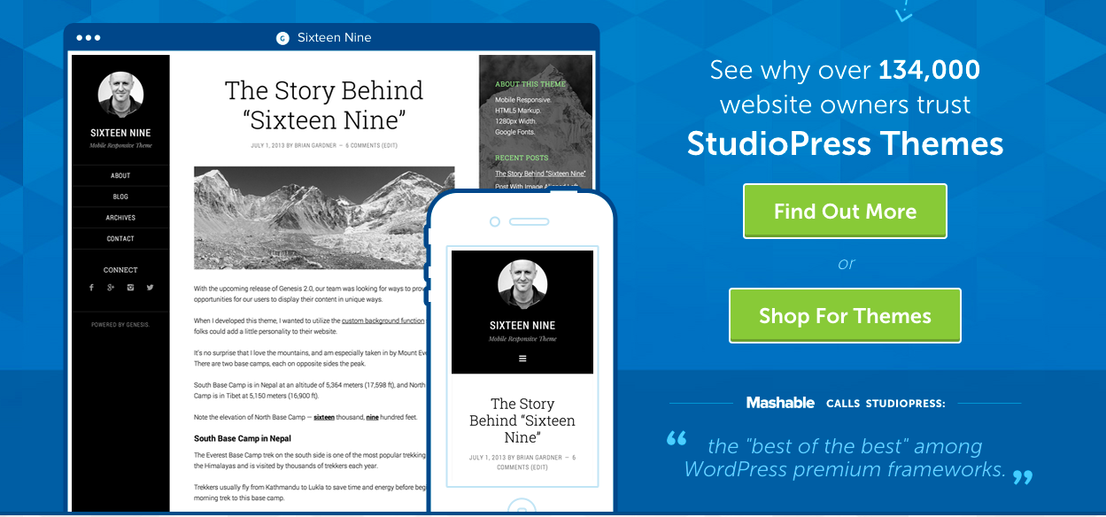 StudiePress WordPress thema's