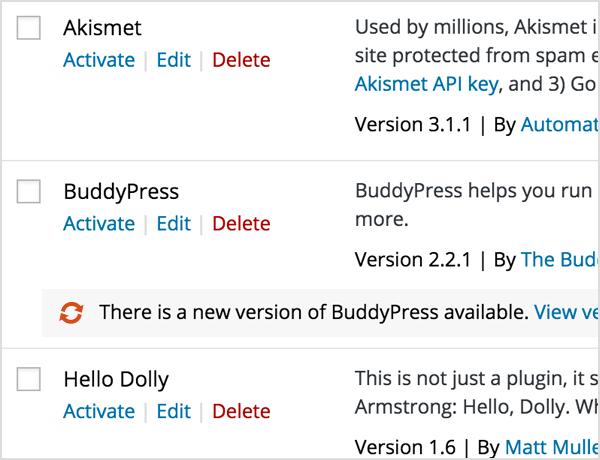 Snel plugins updaten met wordpress 4.2