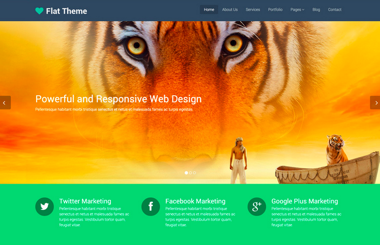 Flat Theme WordPress Thema