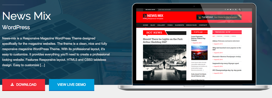 News Mix WordPress Thema