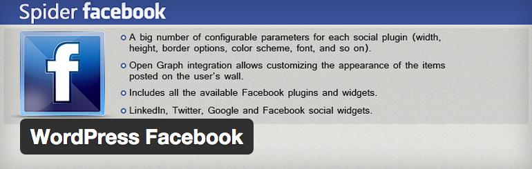 Spider Facebook inloggen voor WordPress