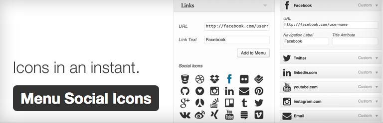 Social media toevoegen aan je wordpress menu