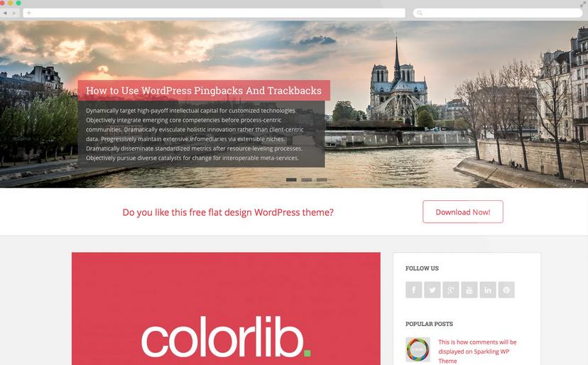 Sparkling Gratis WordPress Thema