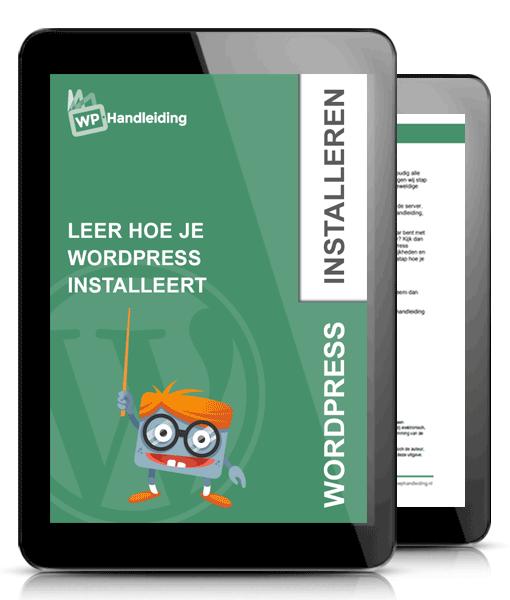 WordPress hulp met installeren van Wordpress websitet