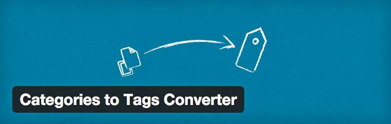 Categorieen to Tags Converter plugin