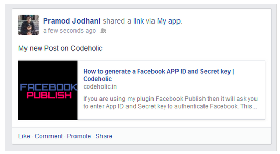 Facebook Publish Plugin