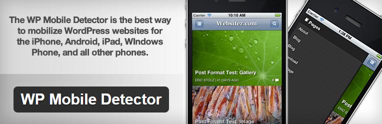 WP Mobile Detector plugin voor wordpress mobielvreindelijke website