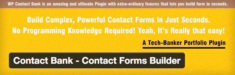 Contact Bank - Contact Forms Builder voor WordPress