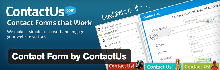 Contact Form by ContactUs voor WordPress