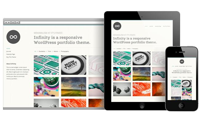 Infinity Portfolio WordPress Theme