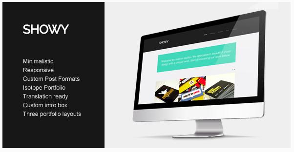 Showy - Bold & Flat Portfolio voor WordPress