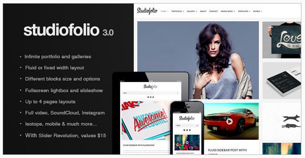 Studiofolio Versatile Portfolio thema voor WordPress