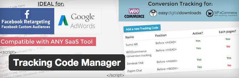 Tracking Code Manager voor WordPress