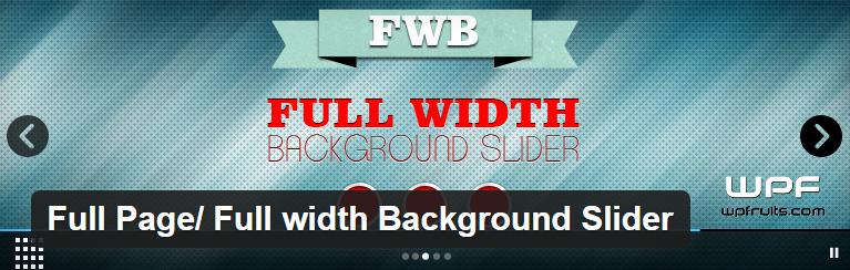 Full width Background Slider