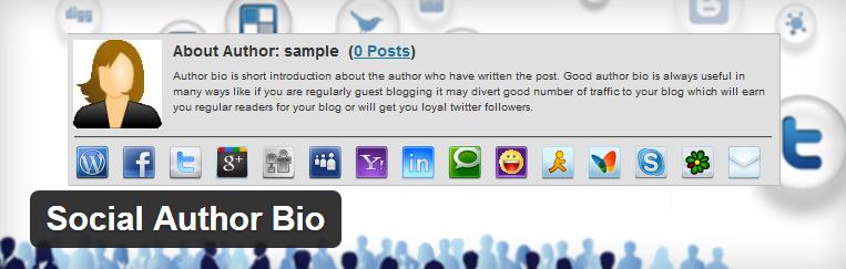 Social Author Bio voor wordpress