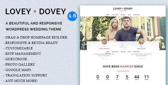 Lovey Dovey thema voor bruiloften