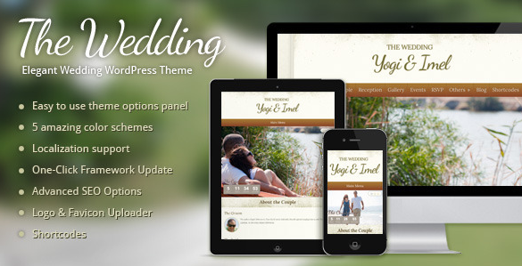 The Wedding - Elegant Bruiloft WordPress Thema
