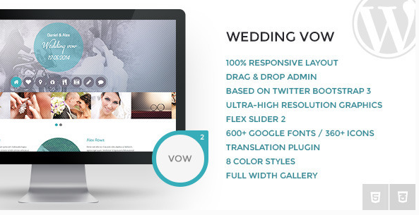 Wedding vow thema wordpress