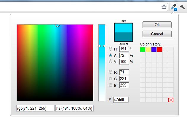 ColorZilla Google Chrome Extensie
