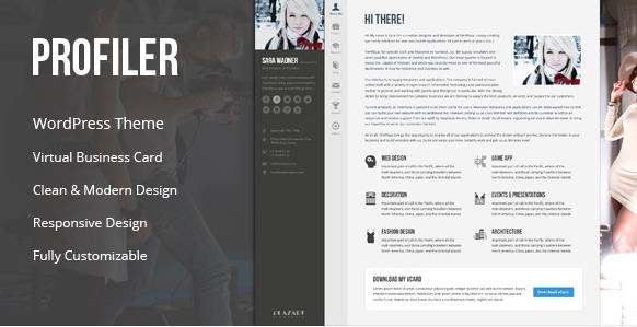 Profiler - vCard Resume WordPress