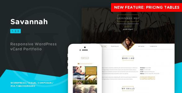 Savannah - Responsive WordPress vCard Portfolio