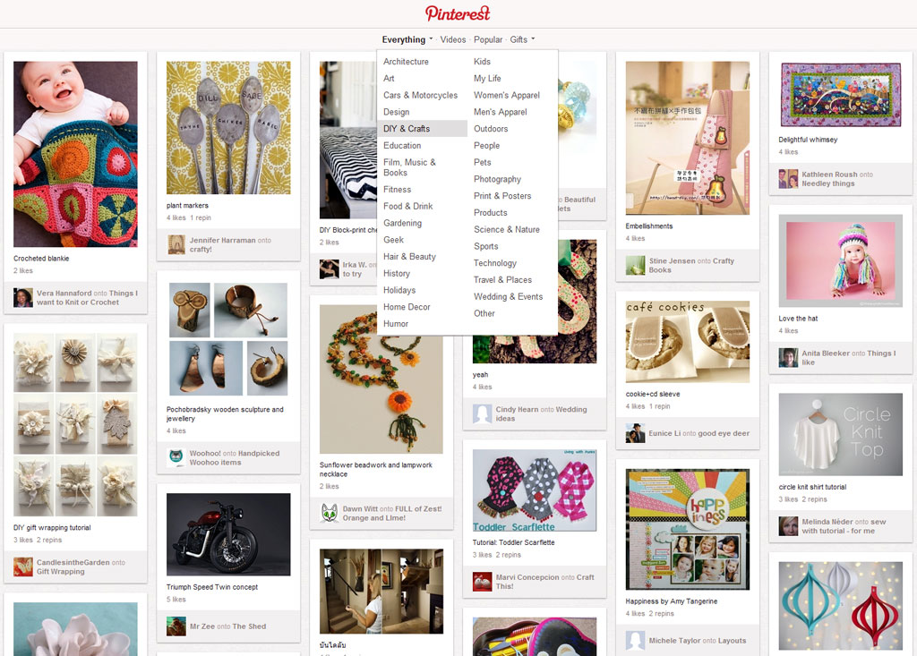 pinterest layout wordpress webdesign trends