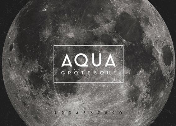 Aqua Grotesque Font lettertype site