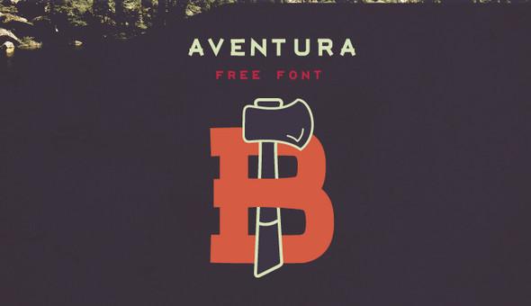 Aventura wordpress website lettertype