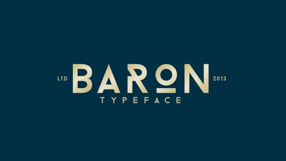 Baron wordpress lettertype