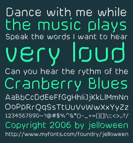 Cranberry Blues Font
