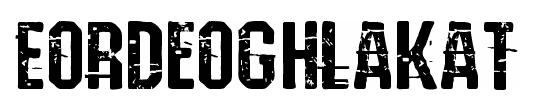 Eordeoghlakat website lettertype