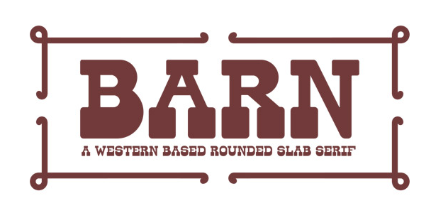 Free Font website Barn
