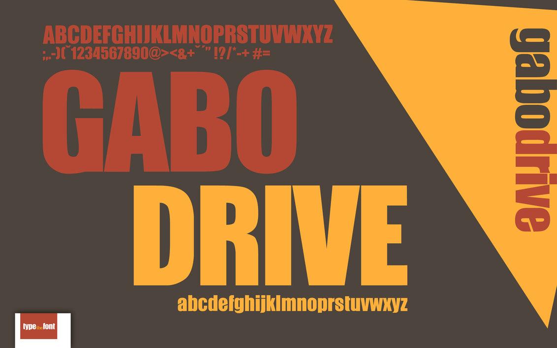 Gabo lettertype website