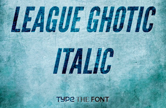 League Ghotic website lettertype