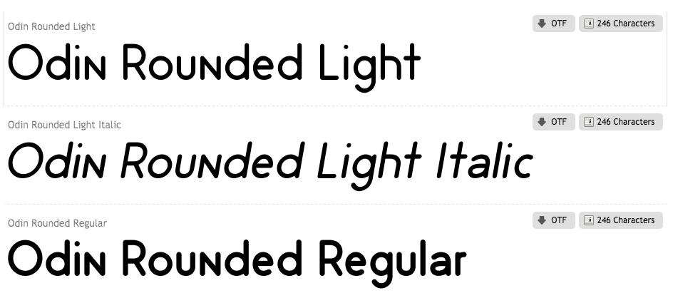 Odin Rounded Font Family lettertype