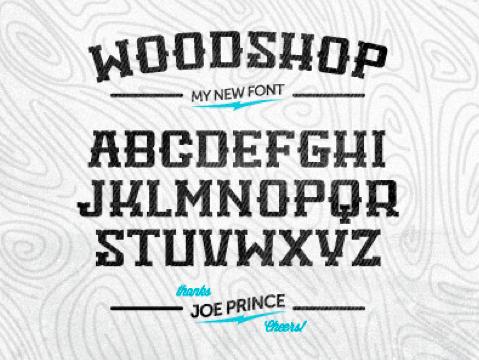Woodshop  wordpress lettertype