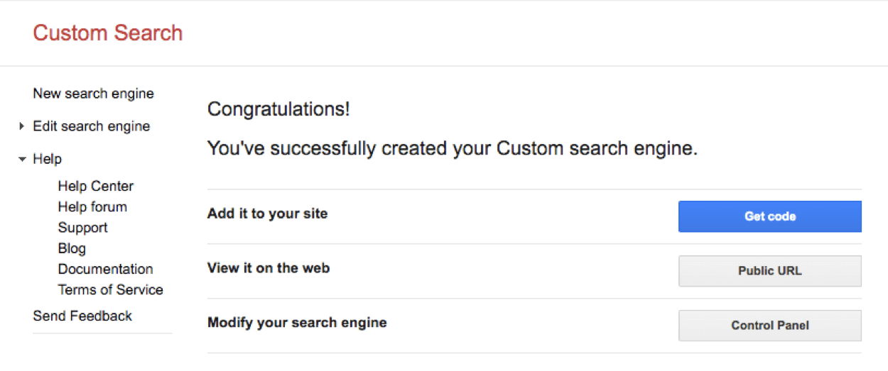 google search voor wordpress